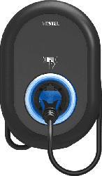VESTEL EVC04-AC22-T2P HOME PLUS Ladestation für Elektrofahrzeuge, Schwarz