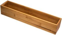 Schubladenorganizer aus Bambus 38 x 8 x 7 cm braun