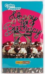 "Cake Topper ""Happy Birthday"" silber"