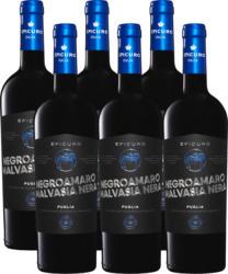 Epicuro Blu Negroamaro/Malvasia Nera Puglia IGP , 2019, Apulien, Italien, 6 x 75 cl