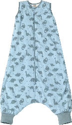 PUSBLU Kinder Schlafsack 2 TOG, 100 cm, in Bio-Baumwolle und recyceltem Polyester, blau