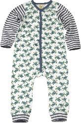 ALANA Baby Schlafanzug, Gr. 74/80, in Bio-Baumwolle, weiß, blau