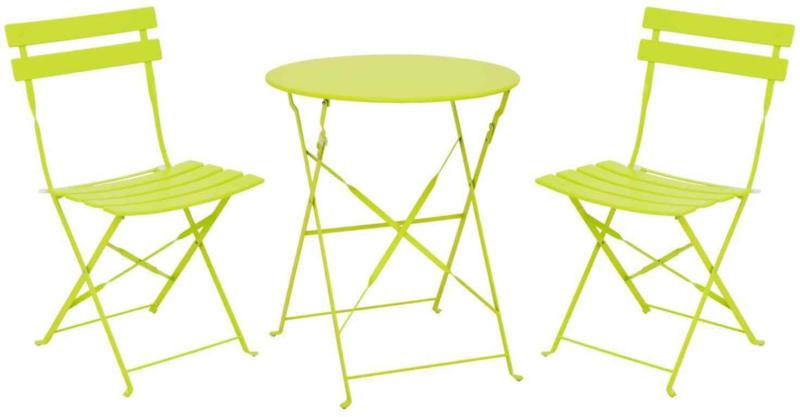 Bistro-Set Campos 3-teilig grün -