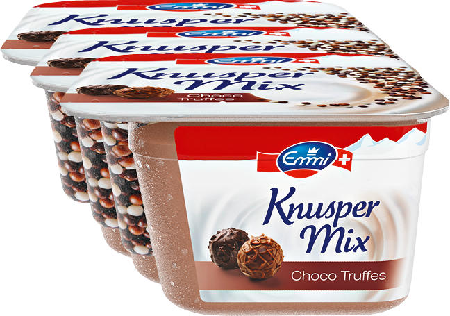 Muesli croquant Knusper Mix Emmi, Choco Truffes, 3 x 150 g
