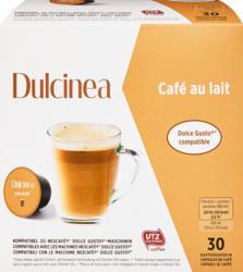 Capsule di caffè Café au lait Dulcinea, compatibili con le macchine Nescafé Dolce Gusto, 30 capsule
