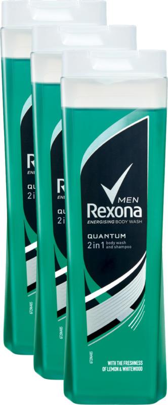 Rexona Duschgel, Quantum, 3 x 250 ml