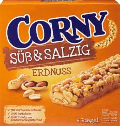 Corny Süss & Salzig Riegel, Erdnuss, 6 x 25 g