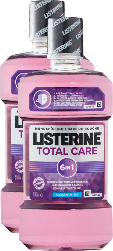 Listerine Mundspülung Total Care, 2 x 500 ml
