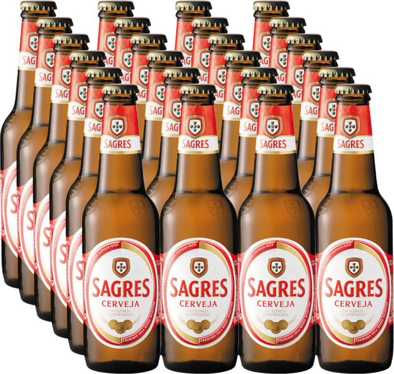 Birra Sagres, 24 x 33 cl