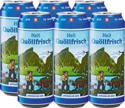 Birra chiara Quöllfrisch Appenzeller, 6 x 50 cl