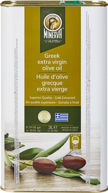 Minerva griechisches Olivenöl, Extra Vergine, 3 Liter