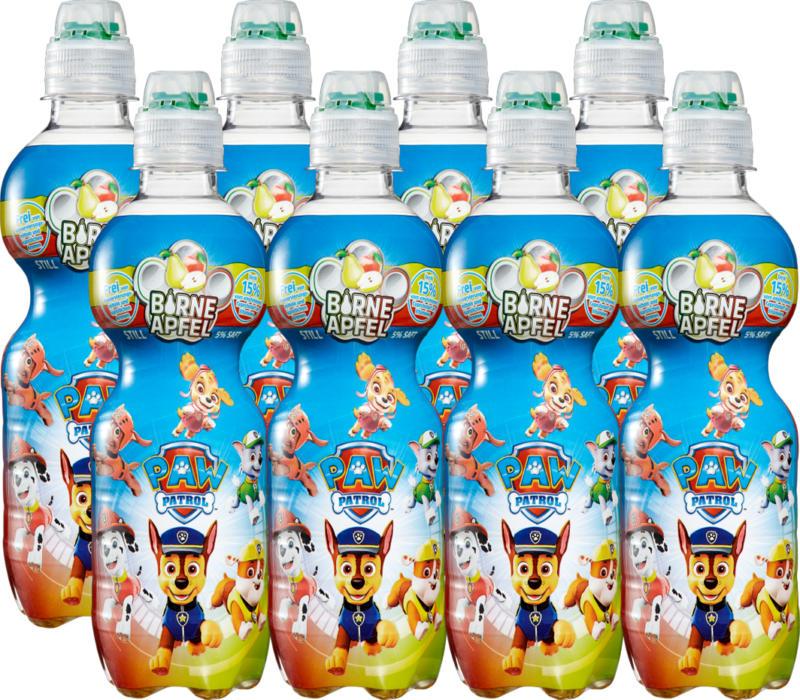 Boisson au jus de fruits pour enfants Paw Patrol, Poire & Pomme, 8 x 35 cl