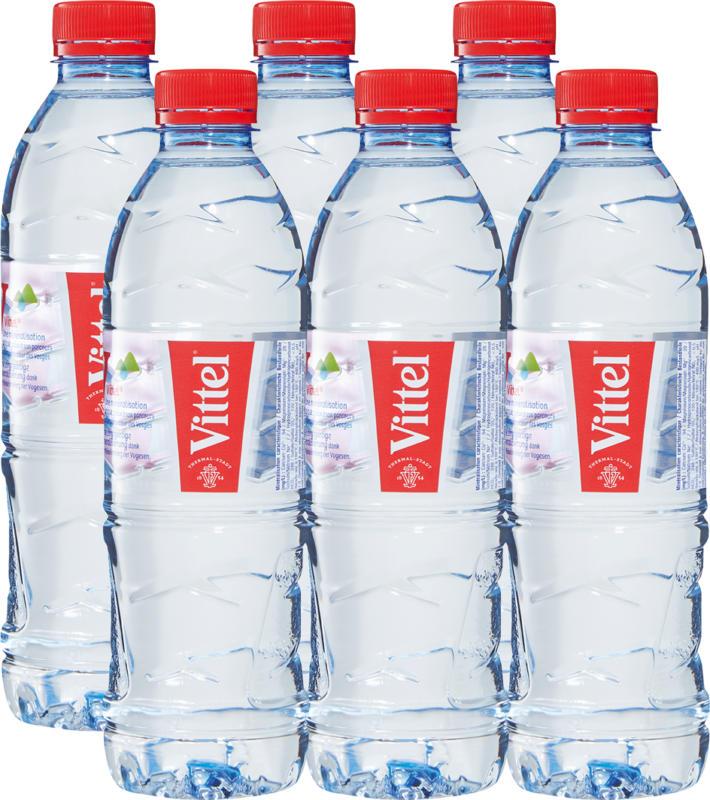 Acqua minerale Vittel, non gassata, 6 x 50 cl