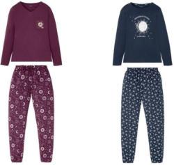 ESMARA® Pyjama Damen, aus reiner Baumwolle