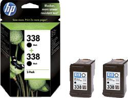 Tintenpatrone Nr. 338 2er Pack, schwarz (CB331EE)