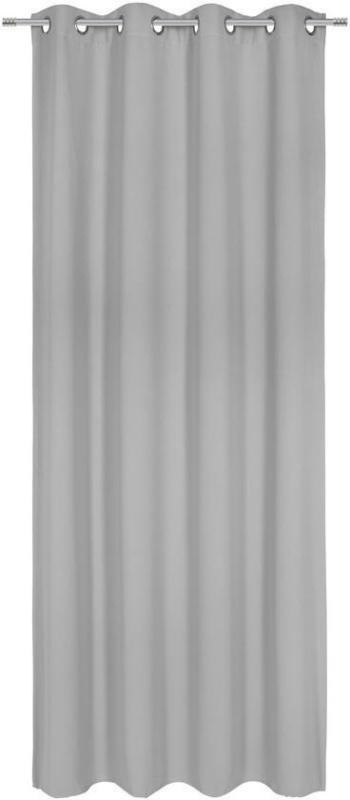Vorhang mit Ösen Elma B: 140cm, Grau