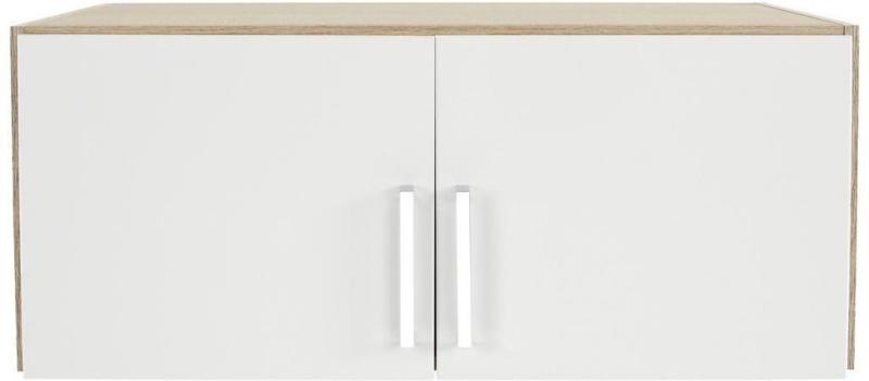 Aufsatzschrank zu Kleiderschrank Wien 91cm, Weiß