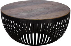 Couchtisch Nisha D: 70 cm Recyclingholz