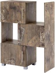 Regal mit Schranktüren Pisa B 46,3-78cm, Eichefarben