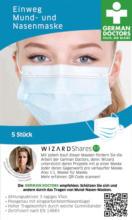 Wizard Mundschutzmaske für Erwachsene, Einweg