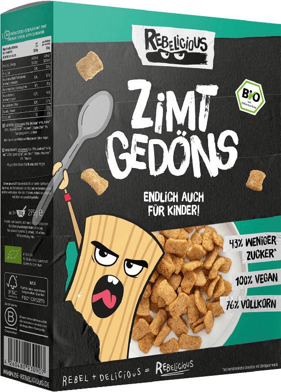 REBELICIOUS Bio Cerealien Zimt Gedöns
