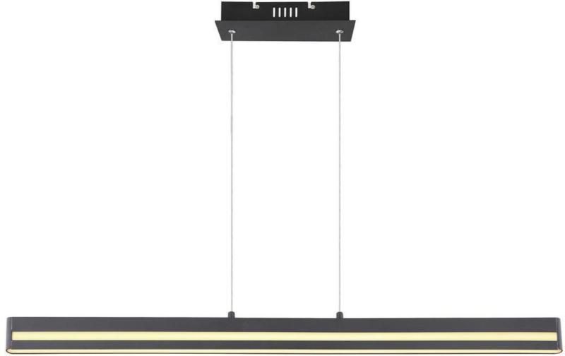 LED-Hängeleuchte Hania L: 102 cm Schwarz-Matt