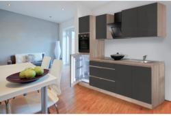 Einbauküche Küchenblock Möbelix Premium B: 270 cm Grau Hgl