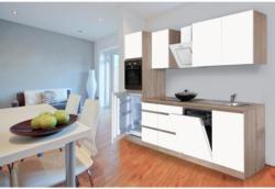 Einbauküche Küchenblock Möbelix Premium B: 280 cm Weiß Matt