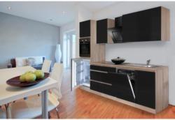 Einbauküche Küchenblock Möbelix Premium B: 280 cm Schwarz Hgl