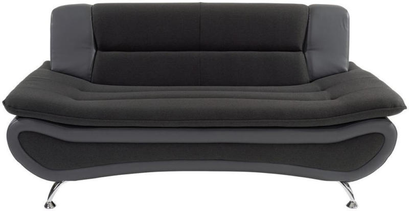 Zweisitzer-Sofa Atlantis, Webstoff/Lederlook