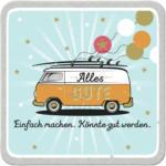 Möbelix Glasuntersetzer Bus - Alles Gute