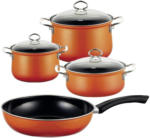 Möbelix Kochtopfset Corall 4-Er Set Orange