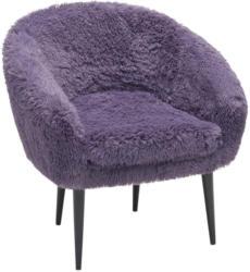 Sessel in Textil Lila