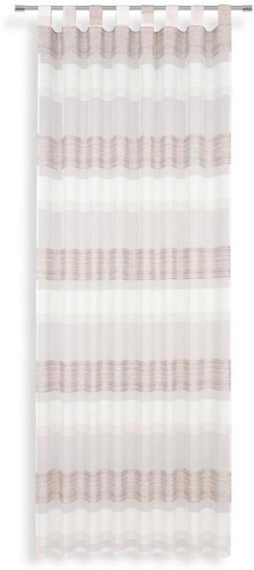 Vorhang mit Schlaufen und Band Chlora B: 140cm, Rosa