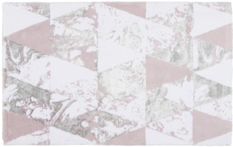 Badematte 70/120 cm Weiß, Flieder