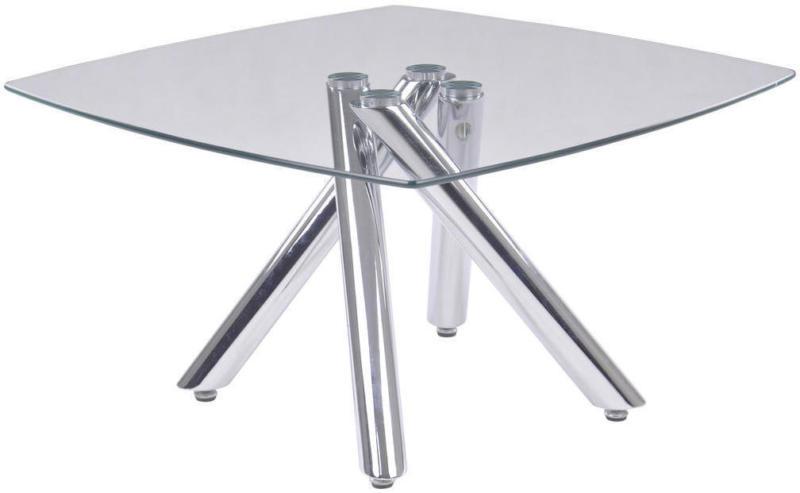 Couchtisch in Metall, Glas 80/80/45 cm