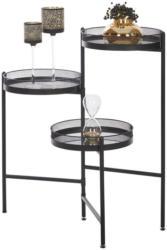 Beistelltisch in Metall, Glas, Holzwerkstoff 31/34/75 cm