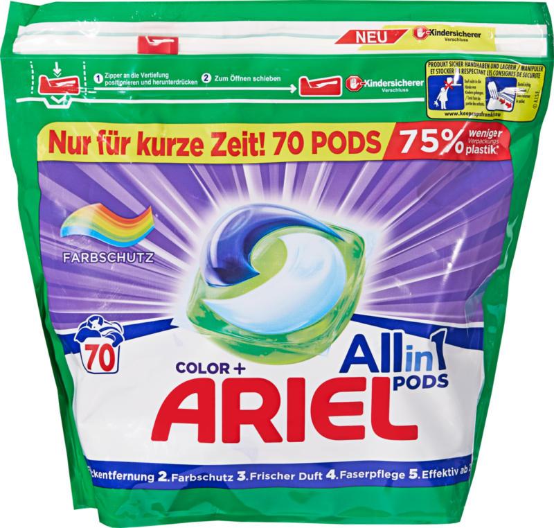 Detersivo All in 1 Pods Ariel, 70 cicli di lavaggio