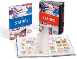 Leuchtturm Einsteckbuch Stamps A4, 16 weisse Seiten, blauer Einband