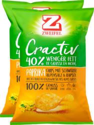Zweifel Cractiv Chips Paprika, 2 x 160 g