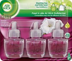 Air Wick elektrischer Duftstecker Nachfüller, Seide & Lilienfrische, 1 Packung à 3 Stück