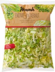 Salade mêlée Chicorée frisée-Pain de sucre Mmmh, prête à consommer, provenance indiquée sur l'emballage, 400 g