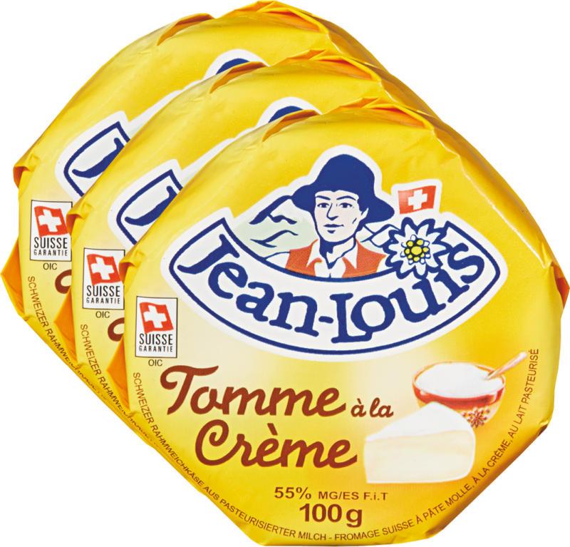 Tomme Jean-Louis, à la crème, 3 x 100 g