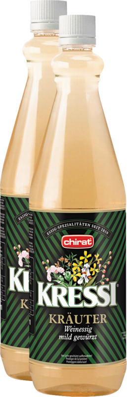 Aceto di vino alle erbe Kressi Chirat, 2 x 1 litro