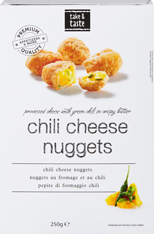 Rodag Chili Cheese Nuggets, 250 g