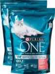Denner Cibo secco per gatti Adult Purina One , Salmone & Cereali integrali, 2 x 950 g - al 17.05.2021