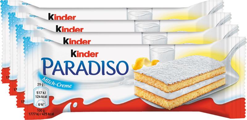Ferrero Kinder Milchriegel Paradiso, 4 x 29 g