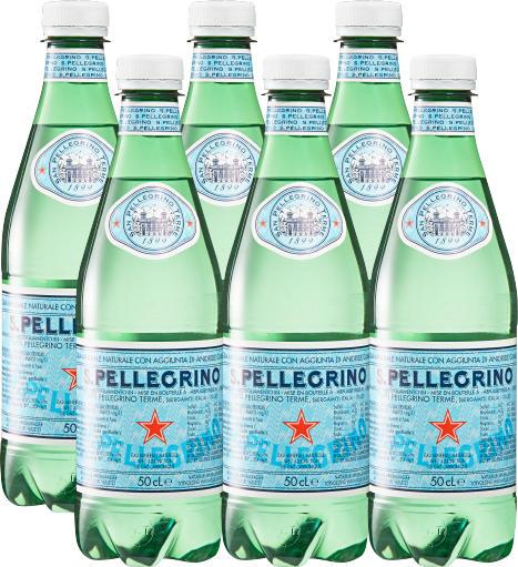 San Pellegrino Mineralwasser, mit Kohlensäure, 6 x 50 cl