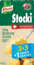 Knorr Stocki, 3 x 3 + 1 gratis, 440 g