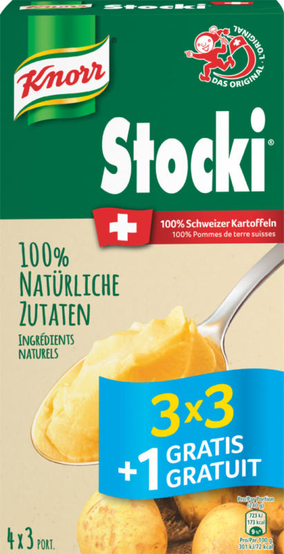 Stocki Knorr, 3 x 3 + 1 gratuit, 440 g
